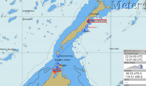Map of the passage (including our current GPS position)
