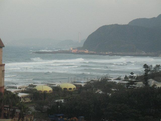 Výhled z balkónu, zvlášť při tajfunu to stojí za to
