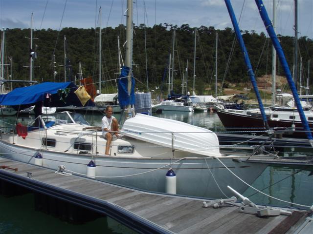 Člun na palubě Janny