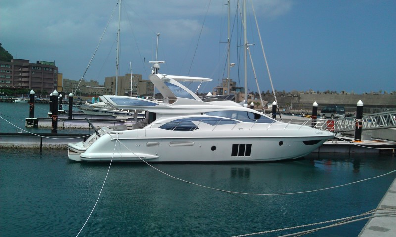 Azimut in Bisha harbour