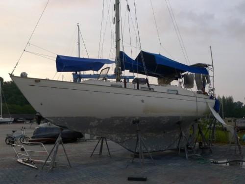 Janna v loděnici na ostrově Rebak